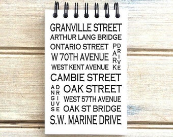 Marpole Vancouver B.C. - Love This Place - Street Name Notebook - Busroll Notepad Journal Custom Gift B.C. - Canada