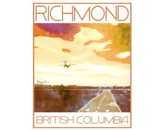 Richmond B.C. - Love This Place Cityscape - Art Print on Paper - Home Decor Tourism Gift Photo TheJitterbugShop Vancouver