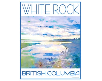 White Rock B.C. - Love This Place Cityscape - Art Print on Paper - Home Decor Tourism Gift Photo TheJitterbugShop