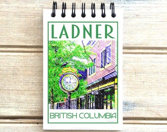 Ladner B.C. - Love This Place - Cityscape Notebook - Vancouver Notepad Custom Gift - Canada - The Jitterbug Shop