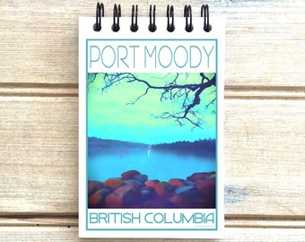 Port Moody B.C. - Love This Place - Cityscape Notebook - Vancouver Canada - Notepad Custom Gift - The Jitterbug Shop