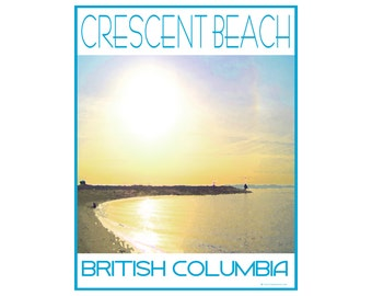Crescent Beach B.C. - Love This Place Cityscape - Art Print on Paper - Home Decor White Rock Surrey Gift TheJitterbugShop