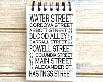 Gastown Vancouver B.C. - Love This Place - Street Name Notebook - Busroll Notepad Journal Custom Gift - Canada