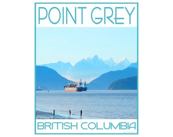 Point Grey B.C.- Love This Place Cityscape - Art Print on Paper - Home Decor Tourism Gift Photo TheJitterbugShop Vancouver