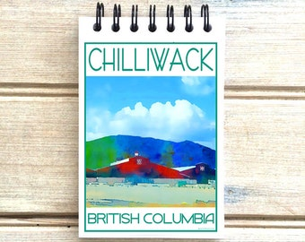 Chilliwack B.C. - Love This Place - Cityscape Notebook - Vancouver Canada  - Notepad Custom Gift - The Jitterbug Shop Journal
