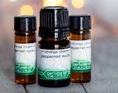 Peppermint Mocha Perfume Oil, winter gift, body oil, handmade fragrance, indie perfume, christmas stocking stuffer, coffee scent, holiday