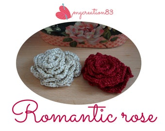 applique crochet rose
