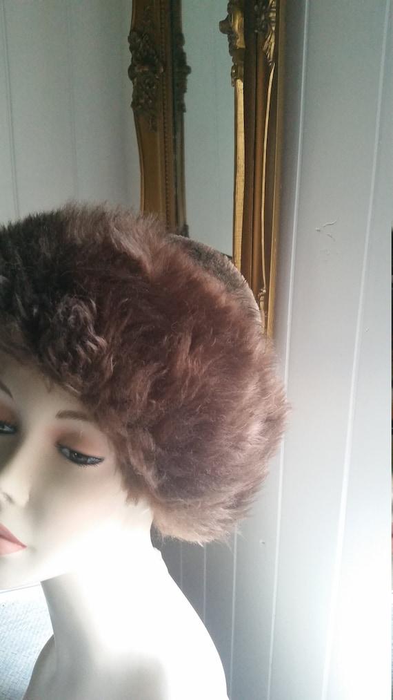 Vintage Cossack Fur Hat Ladies Hat Sheepskin Hat w