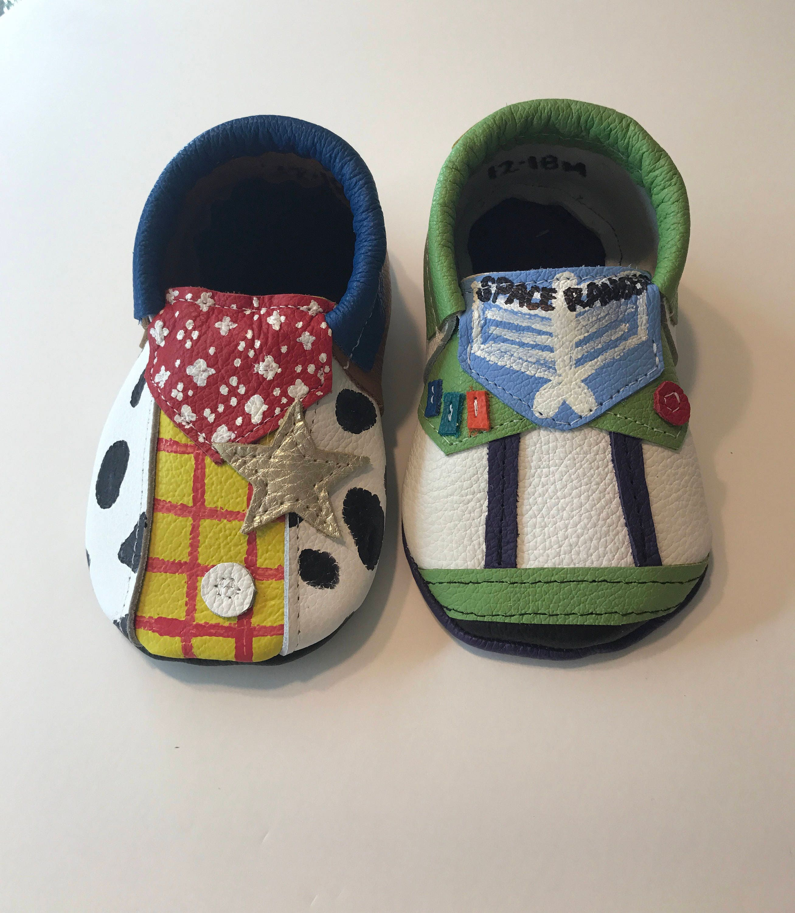 Toy Story Leather Moccasins, Woody and Buzz Lightyear Shoes, Toy Moccasins,Baby Story, Genuine Leather Baby Moccasins,Baby Toy Moccasins,Toddler Moccasins 596096