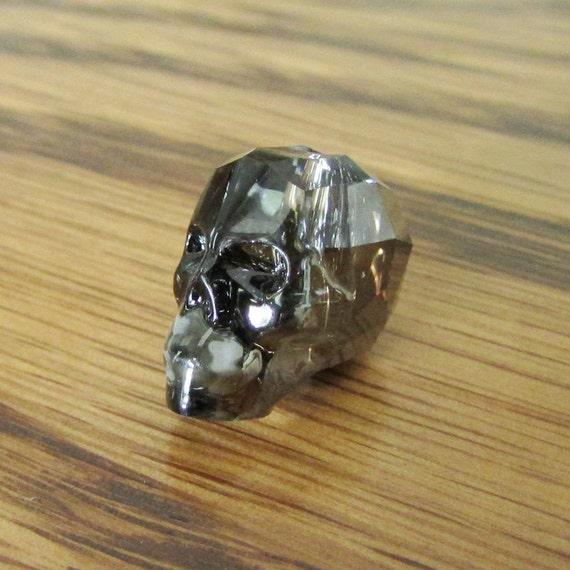 f3aa8469ca5fb Items similar to 1pc 13mm Crystal Skull Bead, Swarovski 5750 ...
