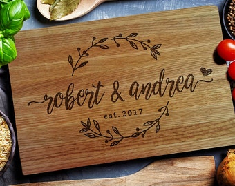 personalized cutting board etsy