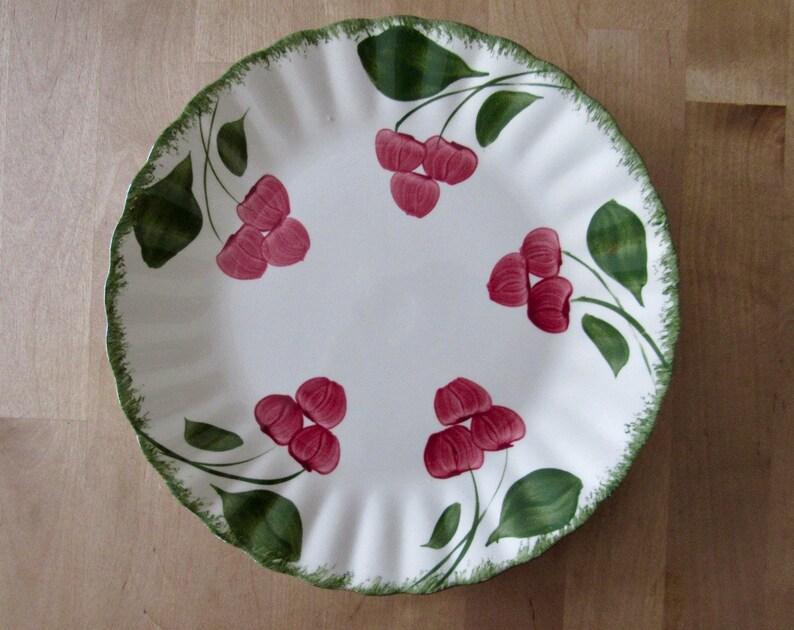 vintage Blue Ridge Potteries Cherry Coke luncheon plate