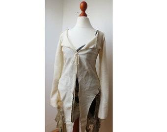 jacket bohemain, cardigan  hippie boho XS S M L
