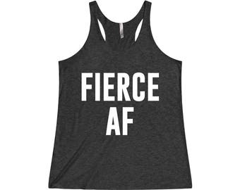 Fierce AF - Crossfit Tank, Funny Workout Tank, Fitness Tank, Funny Gym Tank, Gym Tank Top, Gym Tank, Workout Tank Top, Gym Clothes