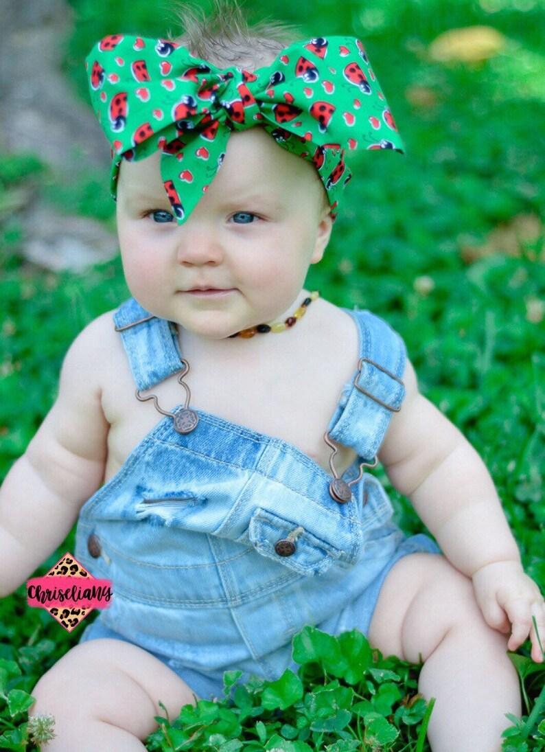 b2ca92d2e53 LADY BUG head wrap Headwrap Newborn Headwrap Fabric