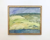 Rolling Hills Large Original Vintage Oil Painting Signed Framed