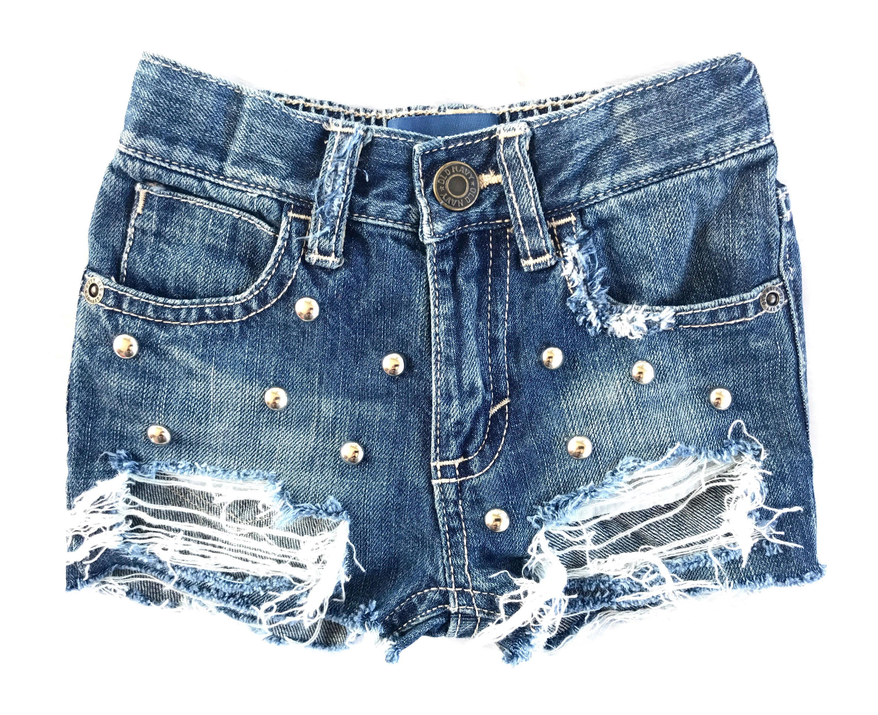 270c10d029 BETTIES baby toddler girl distressed destroyed deconstructed ripped cut off  studded denim jeans shorts. gallery photo ...