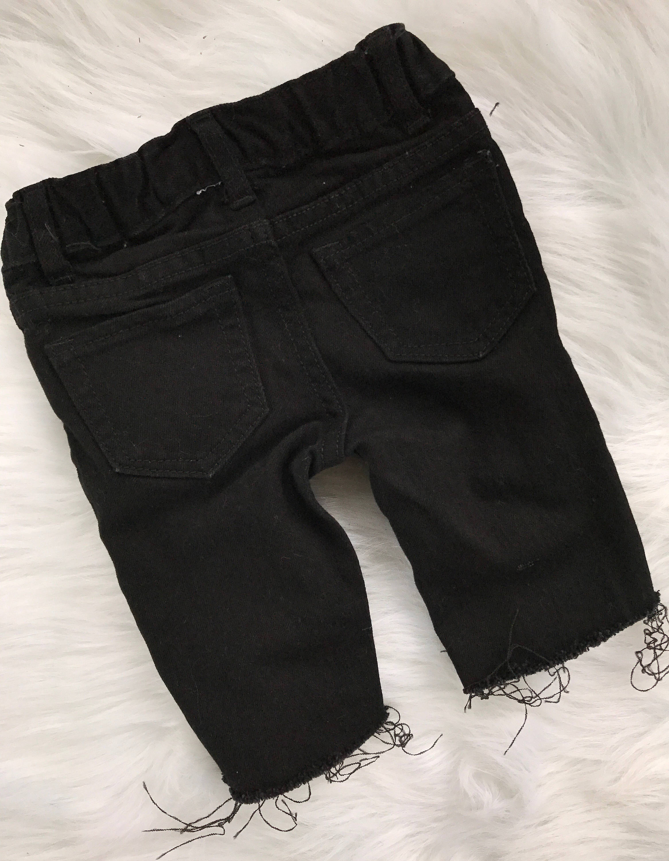 06f86ec0e7c MISFITS baby boy girl unisex toddler black distressed destroyed  deconstructed ripped studded skinny denim jeans shorts
