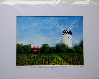 Patcham Windmill, Westdene Windmill or Waterhall Mill, Brighton Signed Limited Edition Fine Art Print