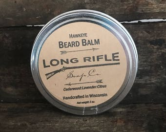 Hawkeye Beard Balm - all natural with cedarwood, lavender, and citrus essential oils