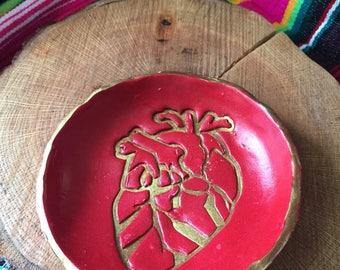 el corazon ring dish