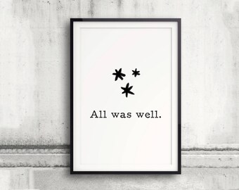 All Was Well Poster Pages Stars Harry Potter Spell