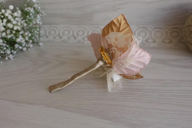 Blush Ivory gold Corsage boutonniere Wedding Flower Roses Wrist Corsage Set Wedding Prom Corsage Bridesmaid Corsage Groomsmen boutonniere