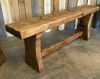 Wooden Bench Etsy