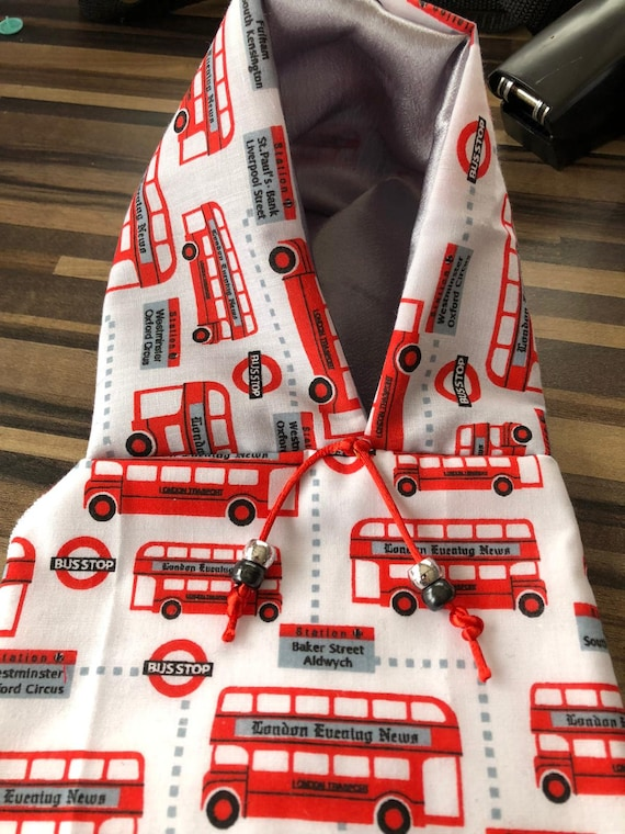 Pet bird parrot 'LONDON BUSES' hoodie - all sizes available - petite to large