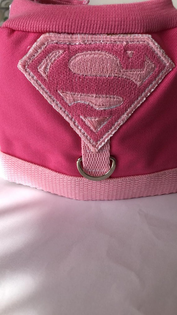 Pet parrot bird flying superGIRL HARNESS & JACKET in 1 - Made to fit any sized bird! More designs available