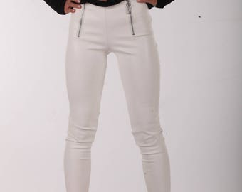 6d4df8d21b32fa Faux Leather Leggings / Paradox / Black Leggings / Fitted Pants / Black  Leggings/ Black Tights / Skinny Pants / Leather Pants PP0304