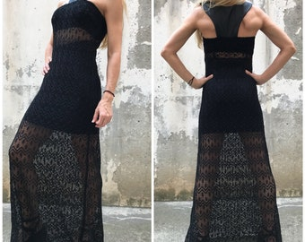 0fb6ee3d3f9b9 Black Cocktail Dress   Paradox   Racer Back Dress   Elegant Dress   Halter  Dress   Black Dress   Sleeveless Dress PD0461