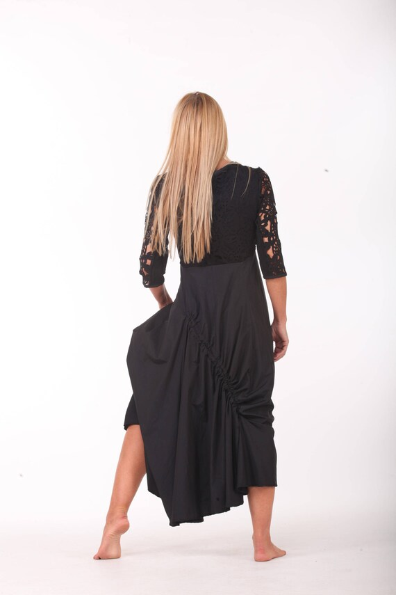 Party Collection Length New Dress Dress Evening Dress Paradox PD0262 Dress Floor Loose Black Maxi A5XqwdXZx