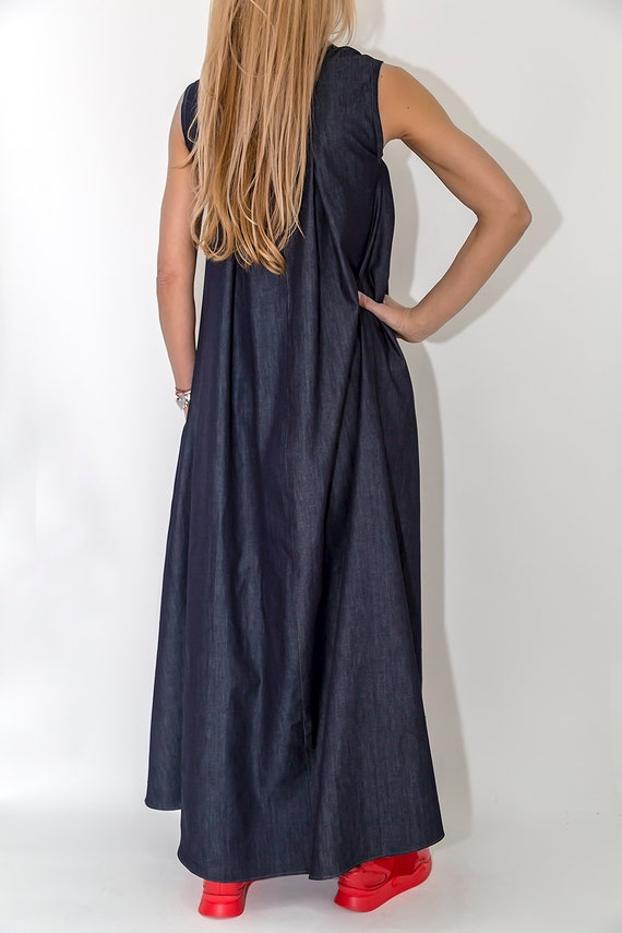 Jeans Dress PD0400 Dress Sleeveless Maxi Oversize Loose New Summer Dress Dress Dress Dress Paradox Denim wqBnUIXF