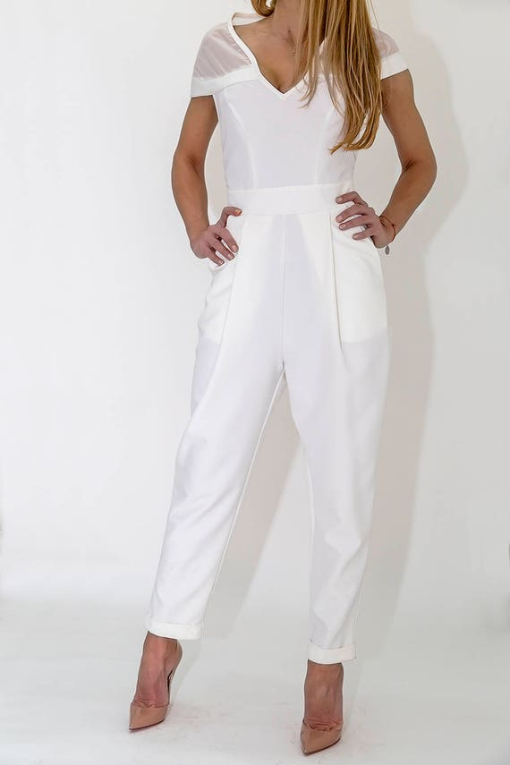 Summer PP0317 Overall Wide Elegant Paradox Jumpsuit Women Classy Overall Romper Chiffon Jumpsuit Jumpsuit qH7pZv