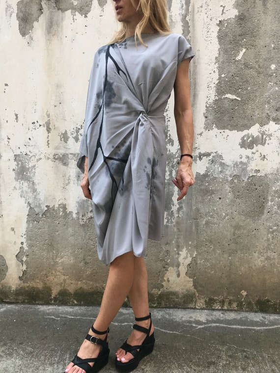 Dress Dress Elegant Drape Dress PD0467 New Bridesmaid Asymmetric Dress Midi Dress Party Summer Dress Paradox 4AxOwPq