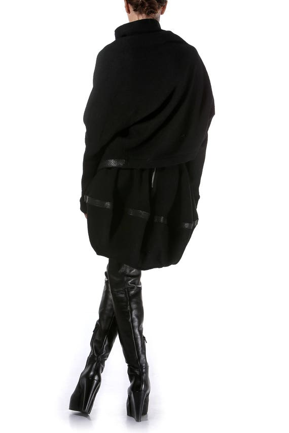 Blazer Women's skirt Paradox skirt and Asymmetric Two Black Skirt Set Pieces Dress Midi Blazer PS0300 Set CwxTTRAfq