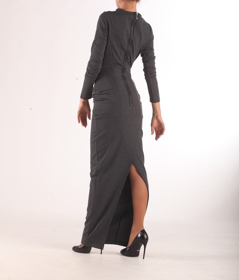 ecc5977072cc7 Sweater Gray Dress   Paradox   Tight Dress   Long Sleeve Dress