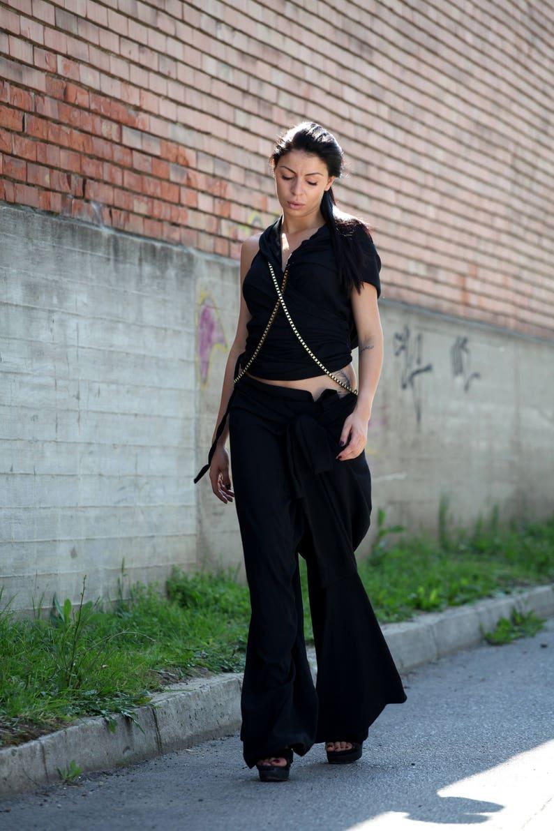 Palazzo Pants  Paradox  Black Pants  Wide-Leg Trousers  High Waist Pants  Wrap Pants  Baggy Trousers  Casual Pants PP0350