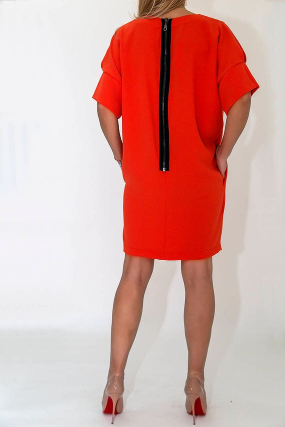 Spring Dress Short Paradox PD0073 Tunic Tunic Tunic Tunic Midi Tunic Sleeves Office Tunic Tunic Boho Japanese Cotton Fqtw05