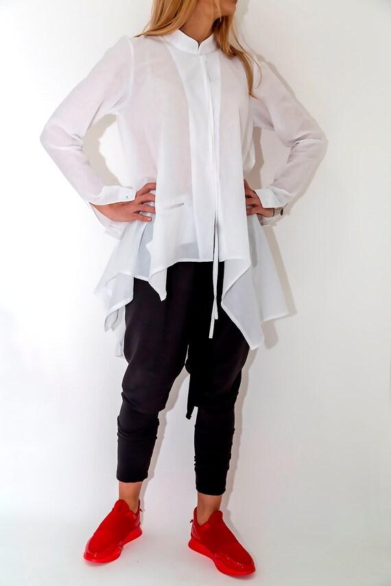 0219e15452c13 White Casual Shirt   Paradox   Plus Size Top   White Office