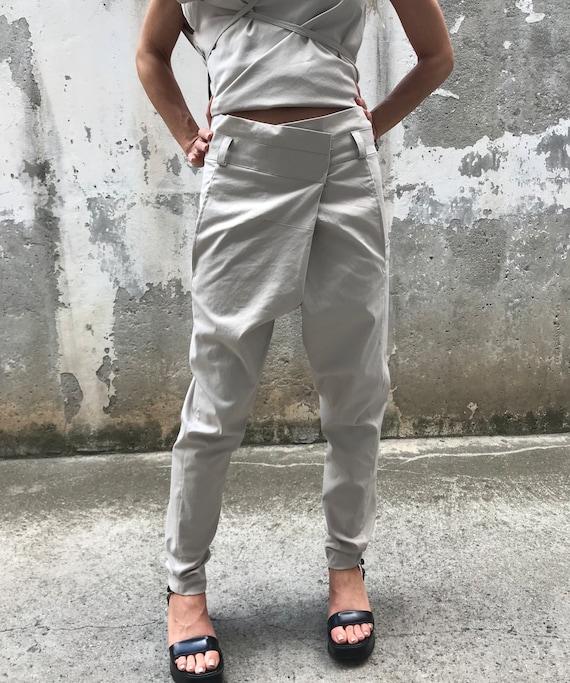 Paradox Suit Pants Chic Pants Pants Pants New Pants Black Winter Pants PP0444 Gray Drop Summer Crotch Women Pants AvqxwUt