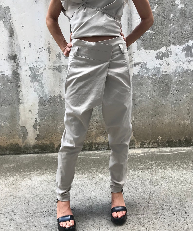 f9fe822aff Drop Crotch Pants / Paradox / Suit Pants / Gray Pants / Women | Etsy