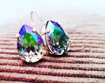 Drop earrings chrystal paradise