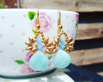 Goldfilled amazonite earrings