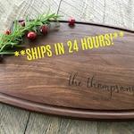 Custom Cutting Board, Personalized Cutting Board, Engraved Cutting Board, Christmas Gift, Wedding Gift, Walnut, Maple