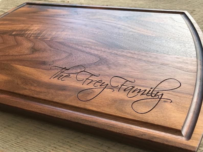 Custom cutting board Personalized cutting board Wedding image 0