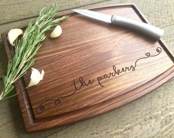 Personalized Cutting board, Wedding Gift, wedding shower gift, Custom cutting board, Fast shipping