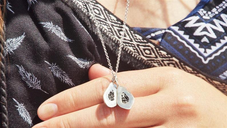 necklace jewelry OUTLET The Slit Papaya Silver Papaya Pendant Sterlingsilver