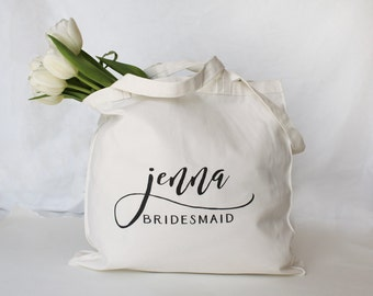 Personalized Bridesmaid Tote, Personalized Bridesmaid Bag, Personalized Maid of Honor Bag, Custom Tote Bag, Personalized Wedding Party Bag